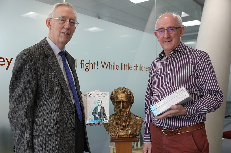 Author/historian Gordon Taylor (left) with IHQ Literary Secretary Paul Mortlock