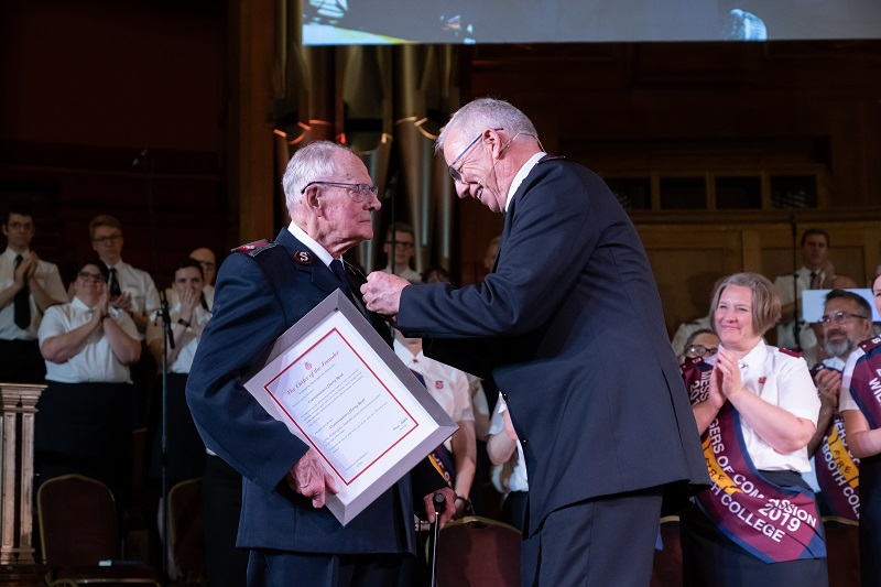 Commissioner Harry Read is admitted to the Order of the Founder (Photo: Andrew King)