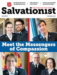 Cover of May 2019 issue of Salvationist
