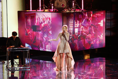 Emily Ann performs on The Voice