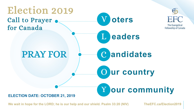 Federal Election 2019 Call to Prayer for Canada
