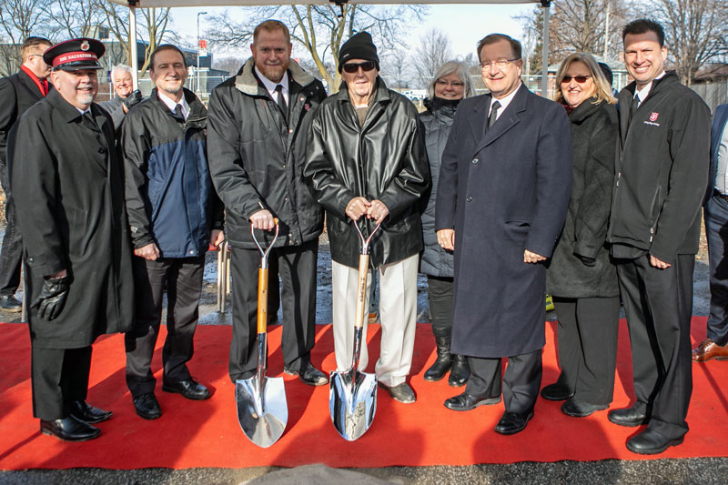 Ground-breaking at New Ajax Corps