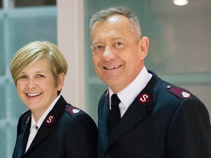 Majors Shona and Keith Pike are currently stationed at International Headquarters in London, England