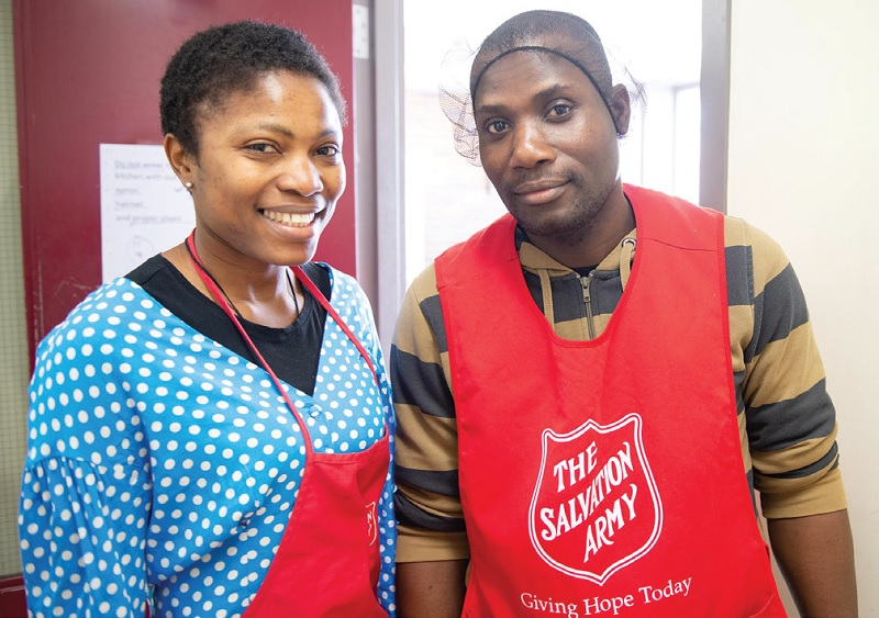 Blessing and Samuel at The Salvation Army's 614 Corps in Toronto