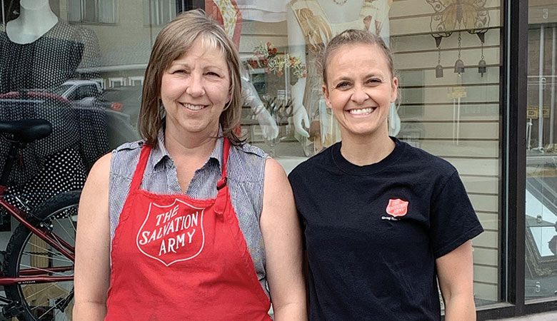 Tracy (left) with Jenn Thompson, program co-ordinator for The Salvation Army's Breakthrough program