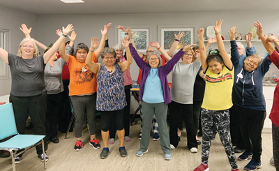 Women in Terrace, B.C., practise WholyFit