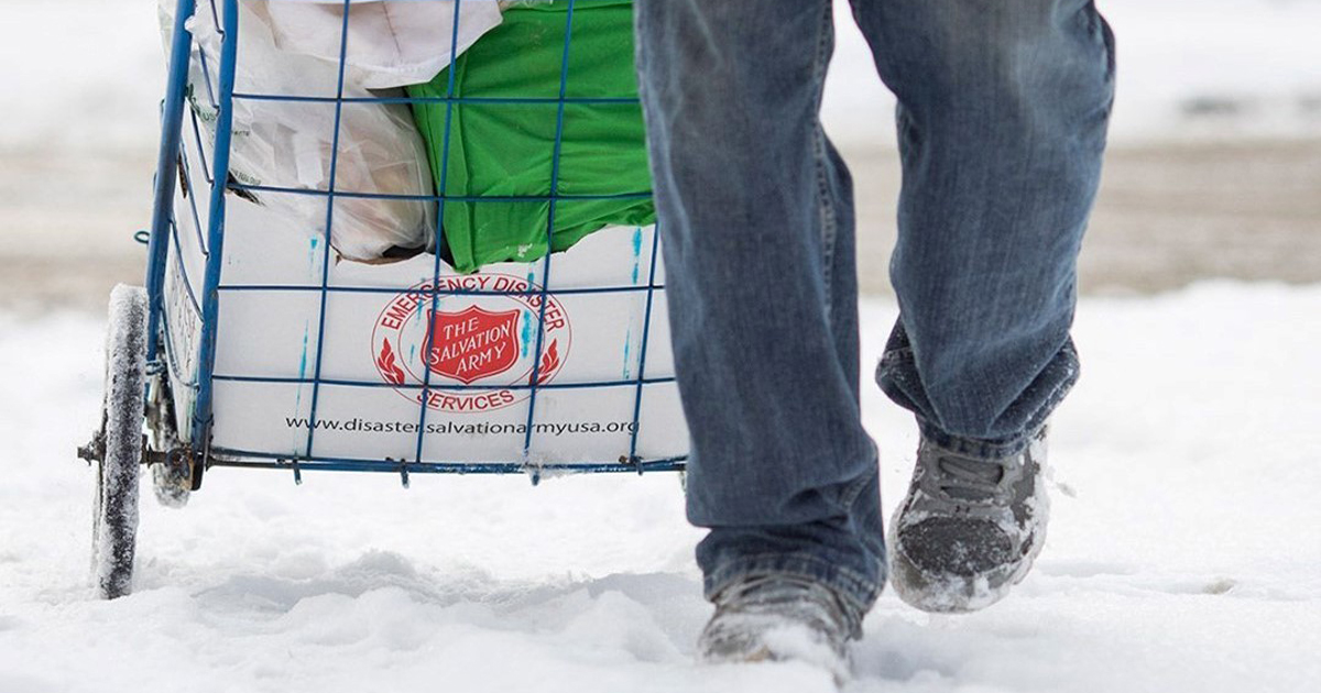 Salvation Army Helps Families Affected By Polar Vortex In Continental USA