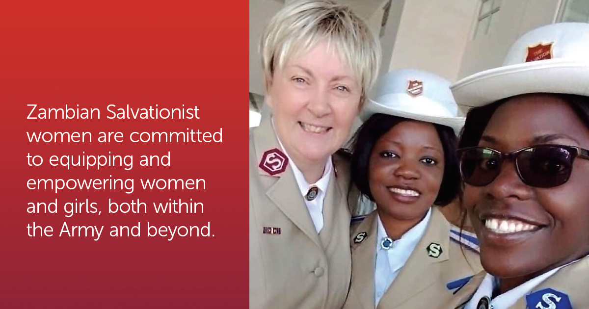 From left, Col Wendy Swan, Yvonnne Mwanza and Virginia Musamblla