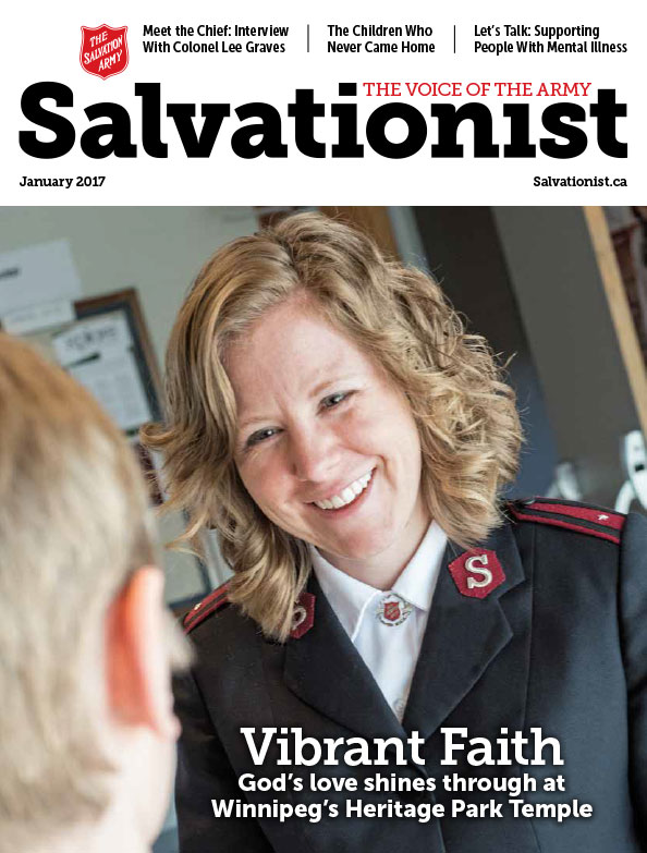 Salvationist Magazine January 2017 issue cover