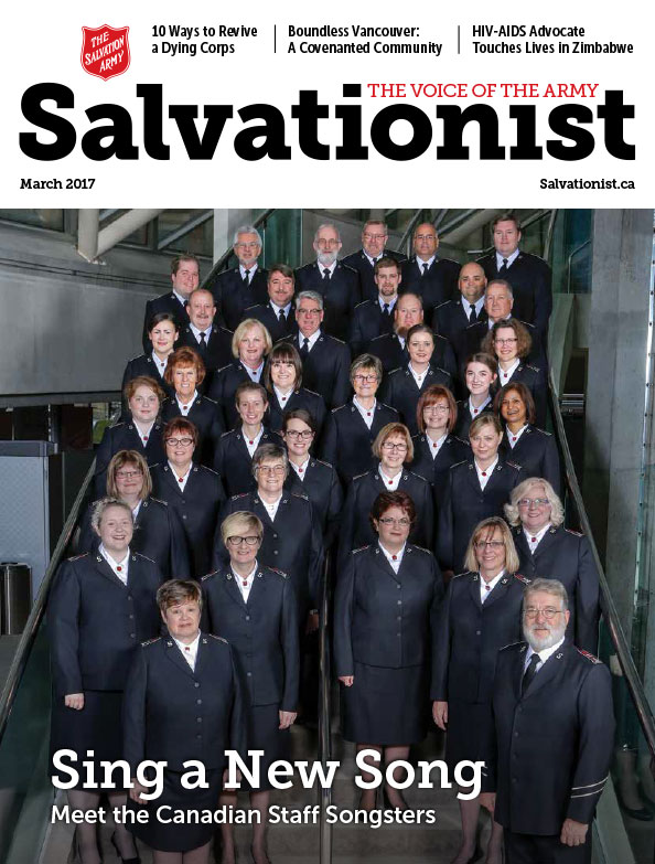 Salvationist Magazine March 2017 issue cover