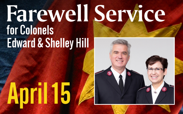 Farewell Service for Colonels Edward & Shelley Hill, April 15