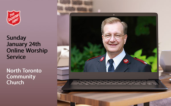 Sunday Jan 24th Online Meeting, North Toronto Community Church