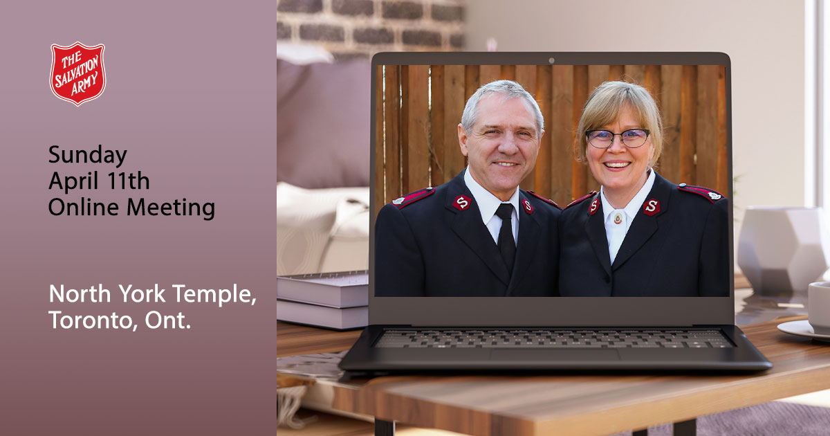Sunday April 11th Online Meeting, North York Temple, Toronto, Ont.