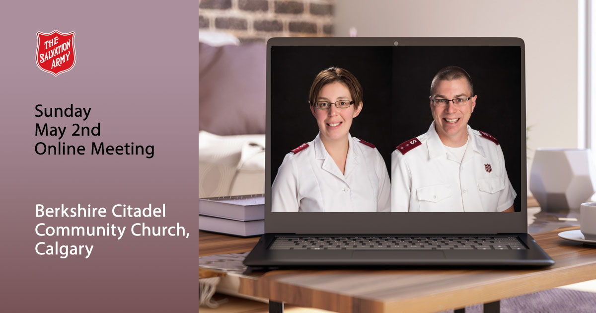 Sunday May 2nd Online Worship Service, Berkshire Citadel Community Church