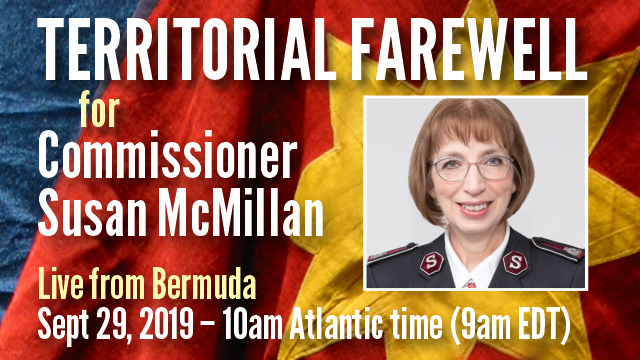 Territorial Farewell for Commissioner Susan McMillan- Sept 29th