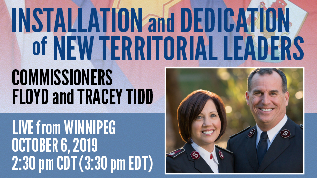 Installation and Dedication of New Territorial Leaders - Oct 6th