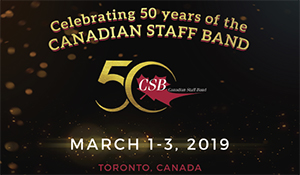 Canadian Staff Band 50th Anniversary Weekend - March 1st-3rd, 2019