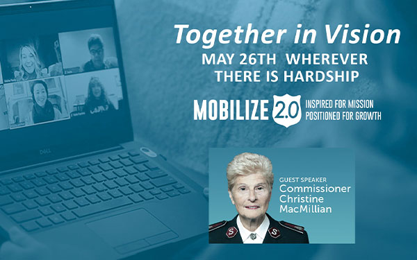 Together in Vision, May26th Wherever there is hardship, Guest Speaker Commissioner Christine McMillian