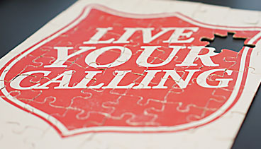 Image of puzzle that says 'Live Your Calling'