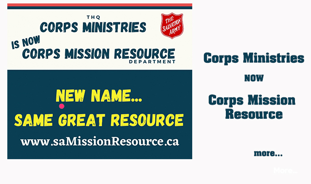 Corps Ministries Name Change