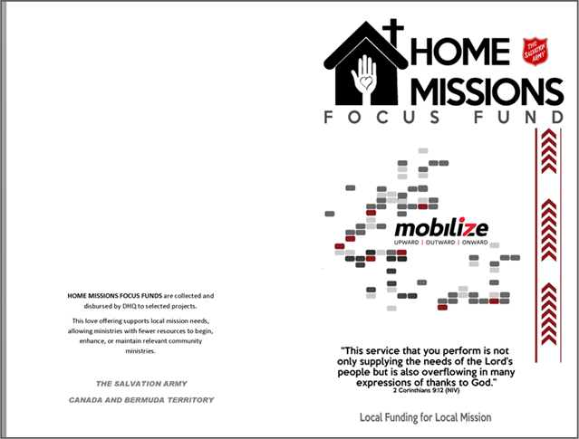 Home Missions Bulletin Cover sample