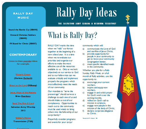Rally Day Ideas
