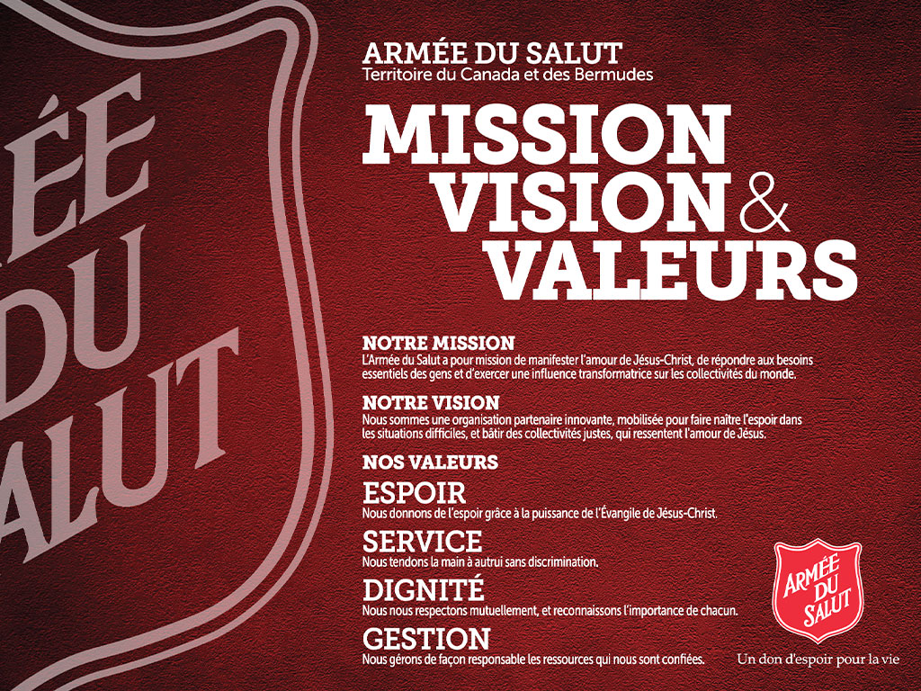 Mission, Vision & Valeurs Poster French