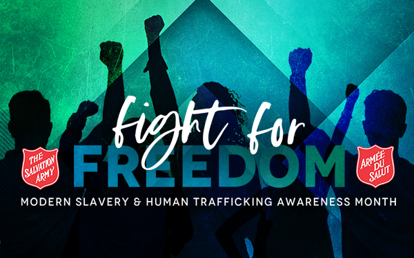 Human Trafficking S3Up Campaign Button, Fight for Freedom - Modern Slavery and Human Trafficking Awareness Month