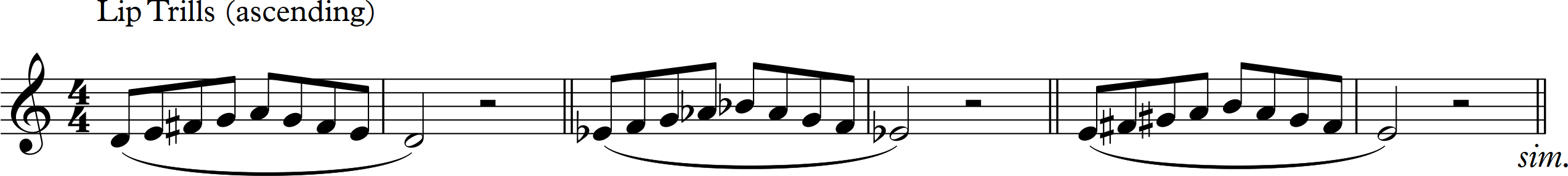 Lip Trills and Vowels (ascending)