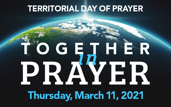 Territorial Day of Prayer Graphic, Together in Prayer