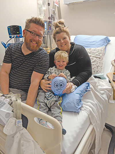 Ty and Felix visit Andrea in the hospital after the operation