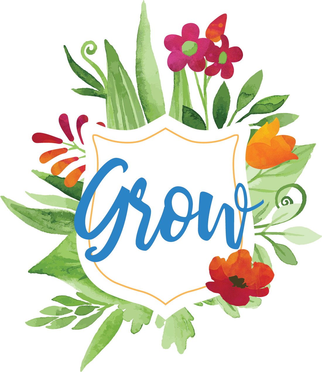 Grow Logo White background PNG