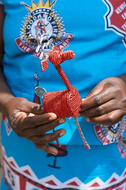Beaded reindeer from Kenya