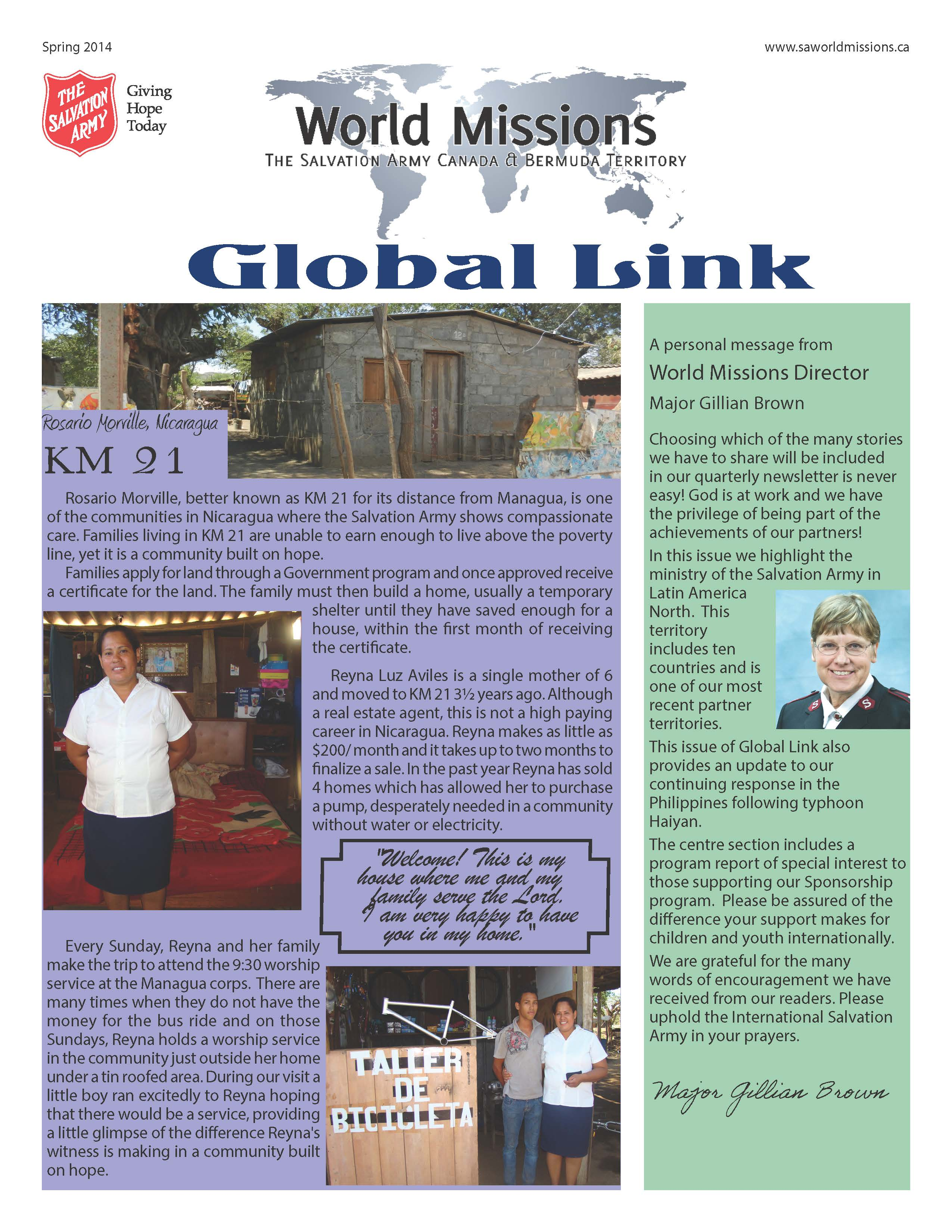 Global Link Spring 2014 Newsletter Button/Graphic