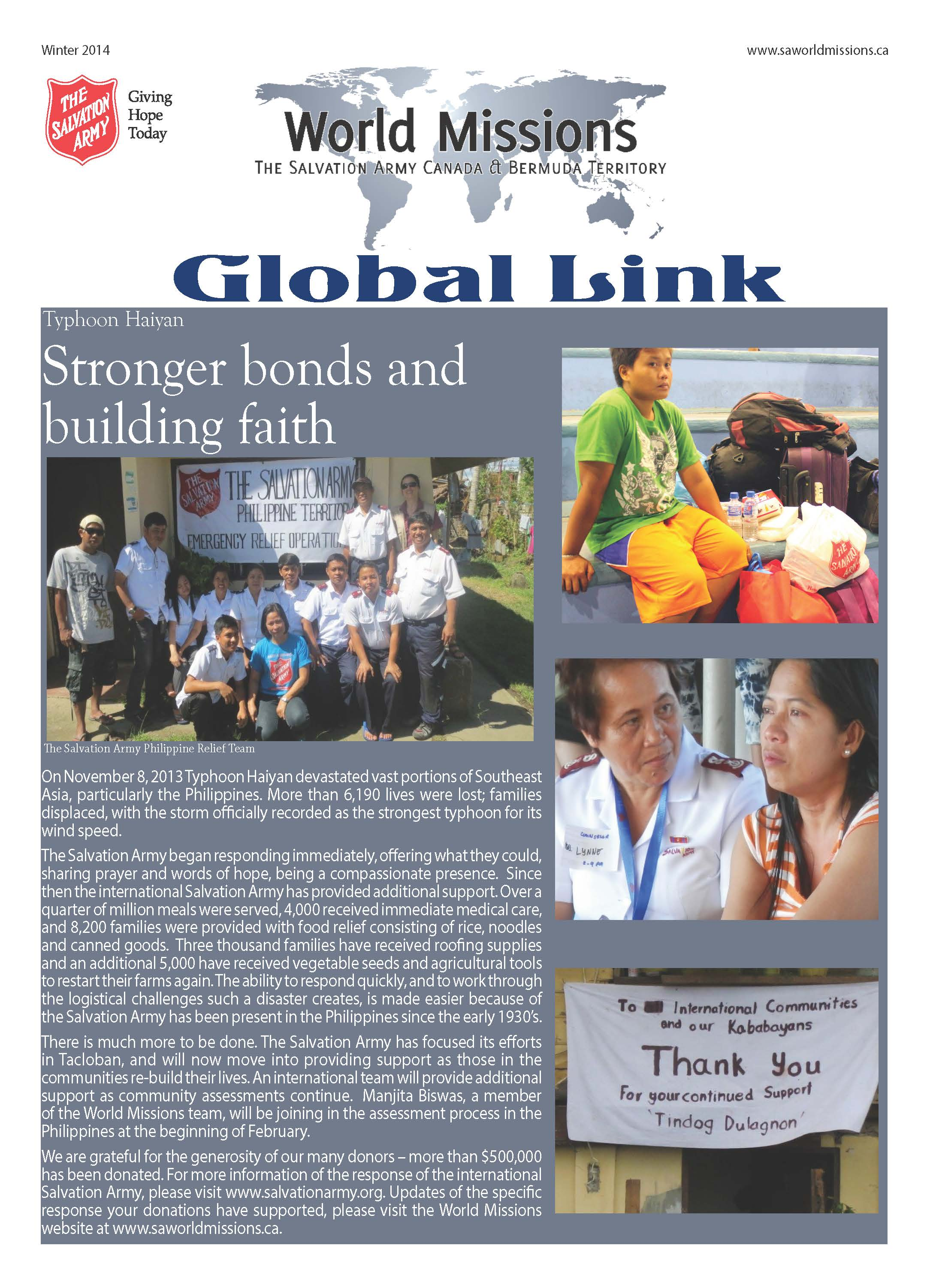 Global Link Winter 2014 Button/Graphic
