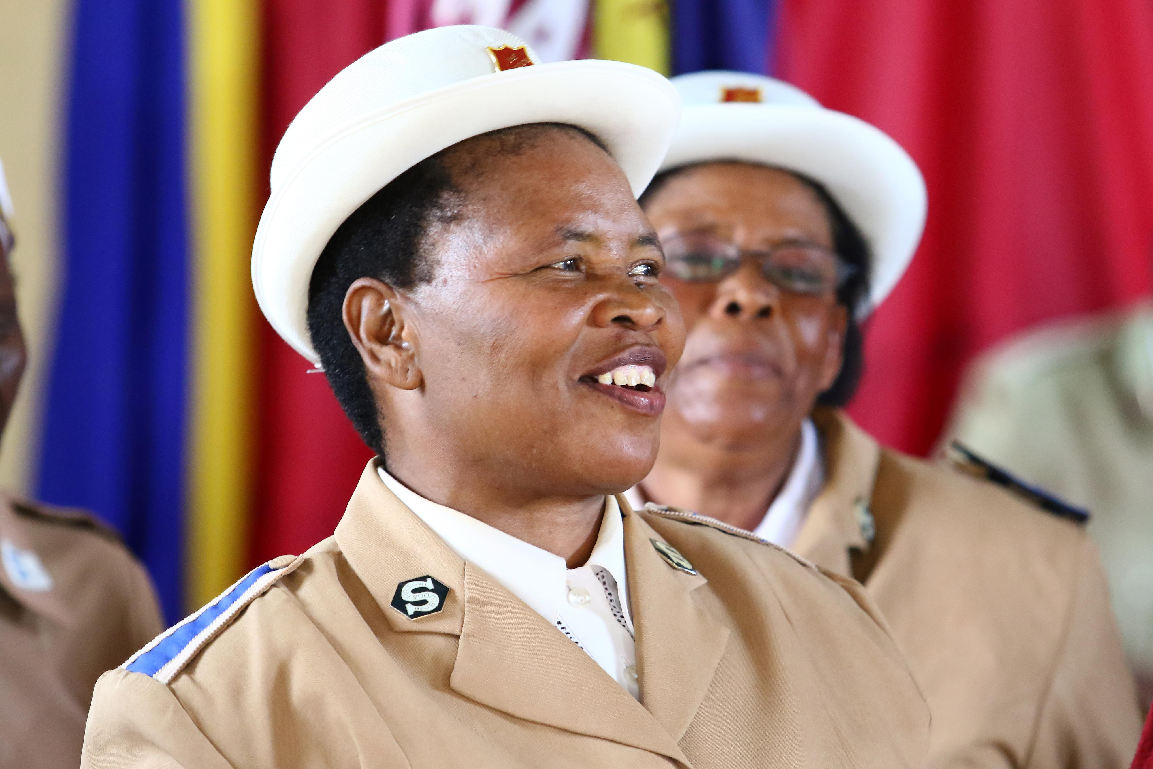 Photo of Salvation Army woman solider smiling at Lusaka Corps in Zambia