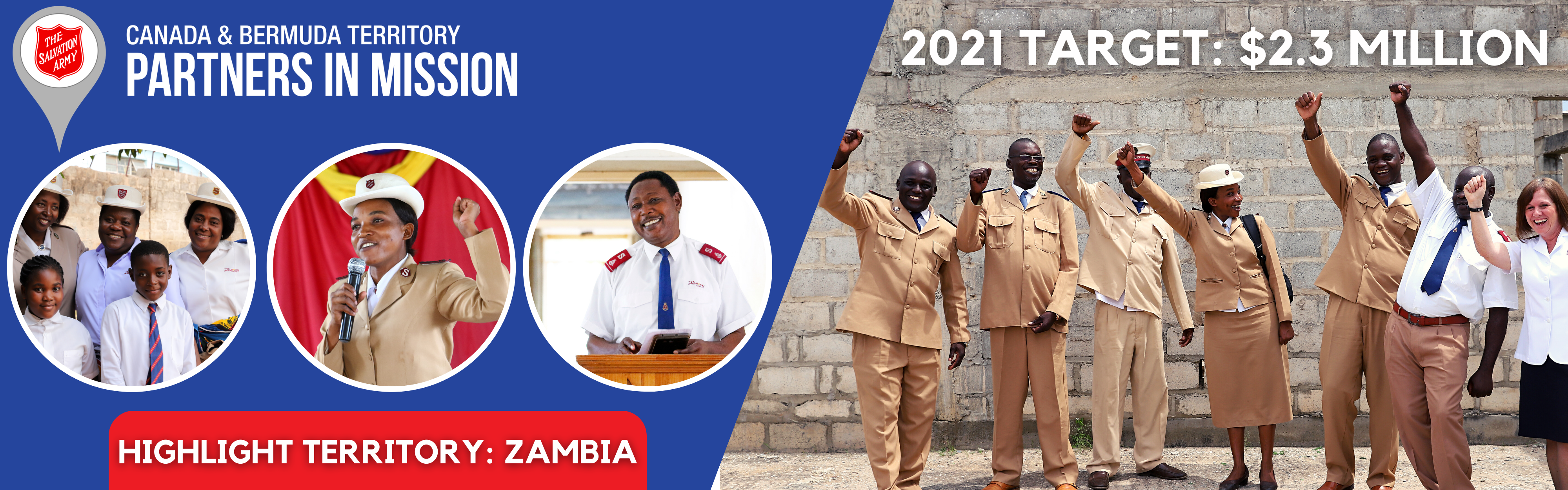 Partners in Mission 2021 Banner Highlighting Zambia graphic