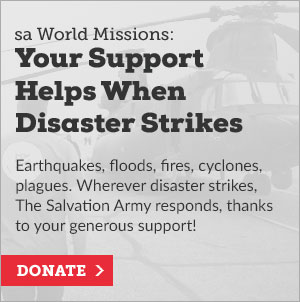 Your Support Helps When Disaster Strikes, button to donate